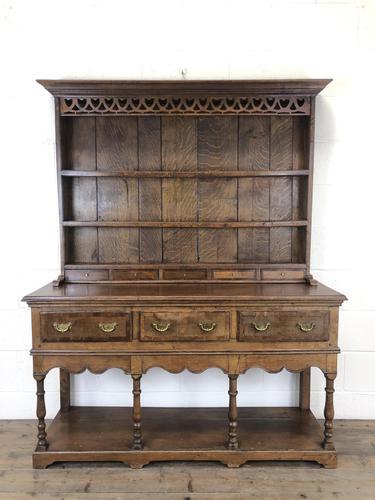 Early 20th Century Antique Oak Pot Board Welsh Dresser (1 of 18)