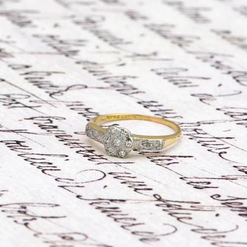 The Antique Nine Diamond Daisy Ring (1 of 5)
