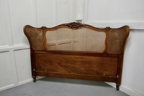 French Walnut Bergère Corbielle 5ft Bed Head (1 of 6)