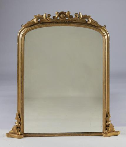 Victorian Carved Giltwood Overmantle Mirror (1 of 7)