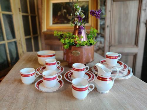 Stylish 22 Piece Coalport Porcelain Coffee Set (1 of 8)