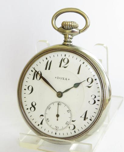 Antique Doxa Pocket Watch, for the German market (1 of 6)