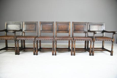 Set of 6 Cromwellian Dining Chairs (1 of 12)