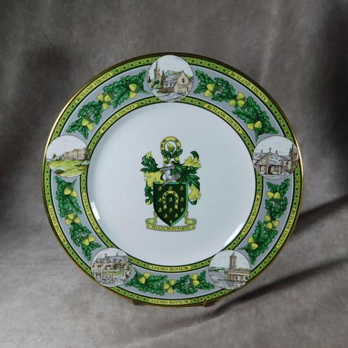 "Limited Edition Caverswall ""Rutland County"" Plate (1 of 8)"