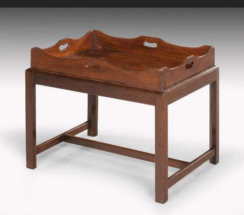 George III Period Mahogany Tray with a Shaped and Swept Border (1 of 5)