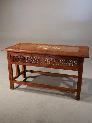 Beautifully Carved Late 19th Century Eastern Low Table (1 of 7)