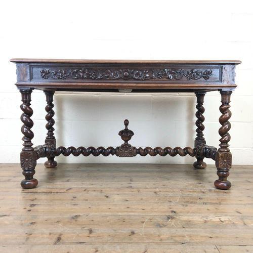 Antique Carved Oak Table (1 of 10)