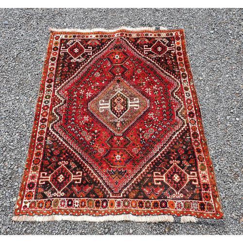 Traditional Persian Qashqai Wool Rug (1 of 5)