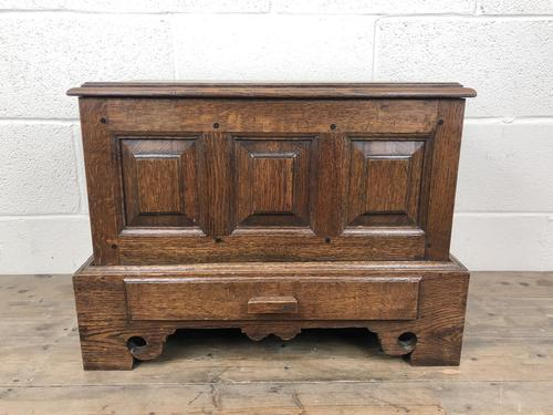 18th Century Style Welsh Oak Coffer Bach Chest (1 of 9)