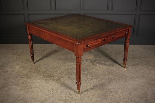 Large Victorian Mahogany Partners Writing Desk (1 of 11)