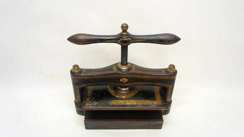 """Late Victorian  Book Copying,  or Nipping Press   14"""" x 10"""" (1 of 13)"""