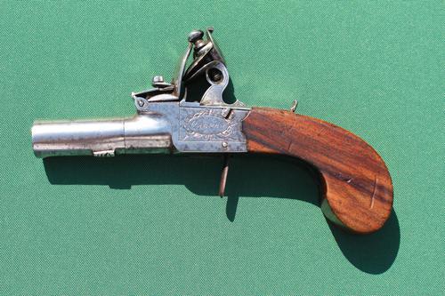 Late 18th Century Flintlock Pocket Pistol by Osborn, London (1 of 6)