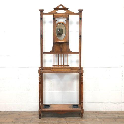 Antique Oak Hall Stand (1 of 11)
