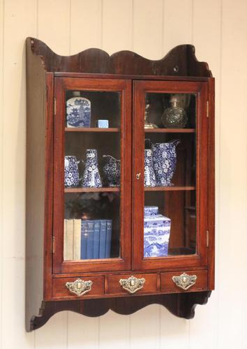 Mahogany Glazed Wall Cabinet (1 of 10)