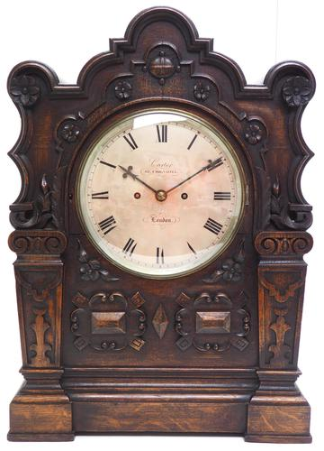 Antique English Twin Fusee Bracket Clock by Carter Cornhill London 8 Day Fusee Striking Mantel Clock (1 of 12)
