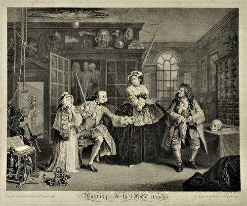 William Hogarth, Marriage-A-La-Mode, Plate 3, Engraved 1745, Original print (1 of 8)