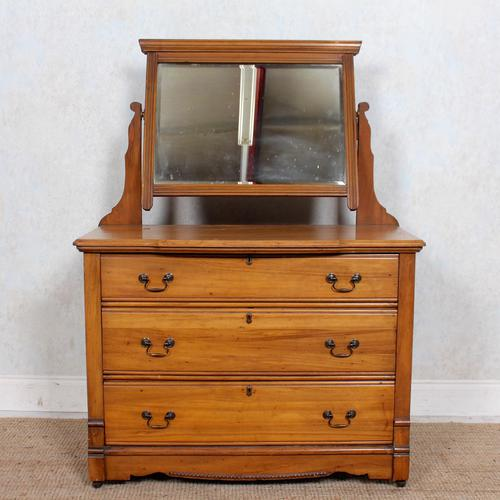 Satinwood Dressing Table Mirrored Arts & Crafts (1 of 10)
