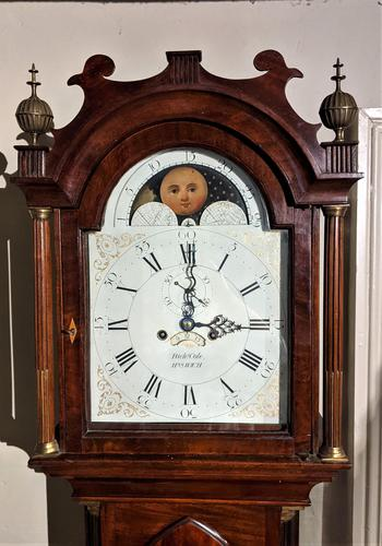 Early Late 18th / Early 19th Century Moon Dial Longcase Grandfather Clock (1 of 10)