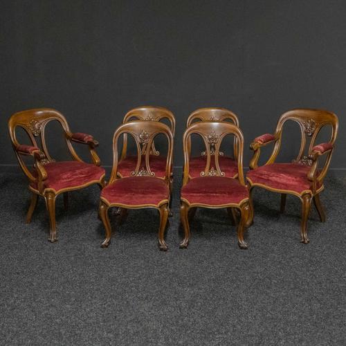 Set of Six Victorian Mahogany Chairs (1 of 13)