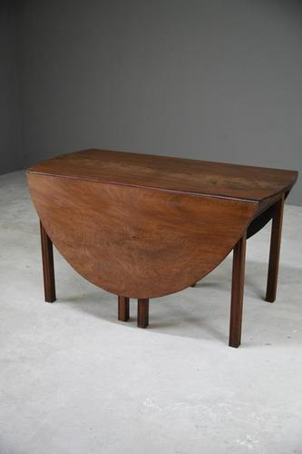 Solid Mahogany Drop Leaf Table (1 of 14)