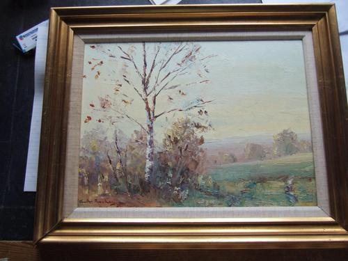 Charles Brooker Oil on Board - Part of Ashdown Forest (1 of 4)