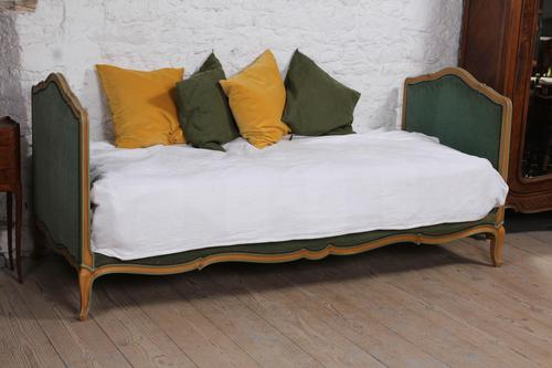 Pretty French Upholstered Single / Day Bed (1 of 6)