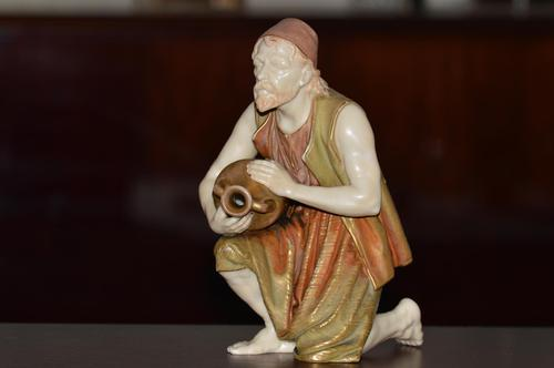 Rare 19th Century Royal Worcester Blush Ivory Figure (1 of 10)