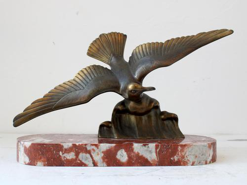 Art Deco Bronze Swooping Seagull (1 of 6)