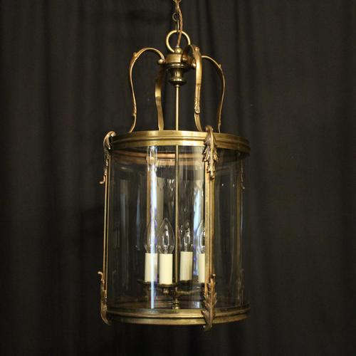French Large Brass Four Light Antique Lantern (1 of 10)