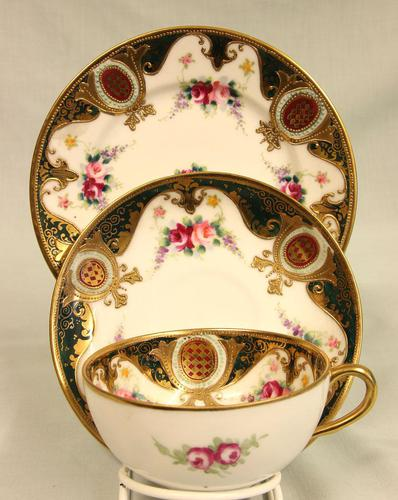 Noritake Porcelain Trio Cup Saucer & Plate (1 of 8)