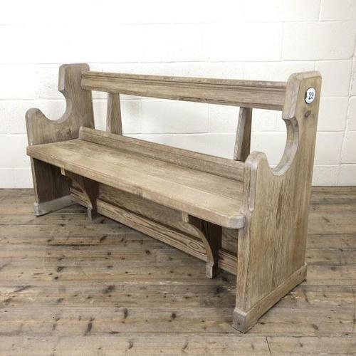 Antique Pine Chapel Pew Bench (1 of 9)