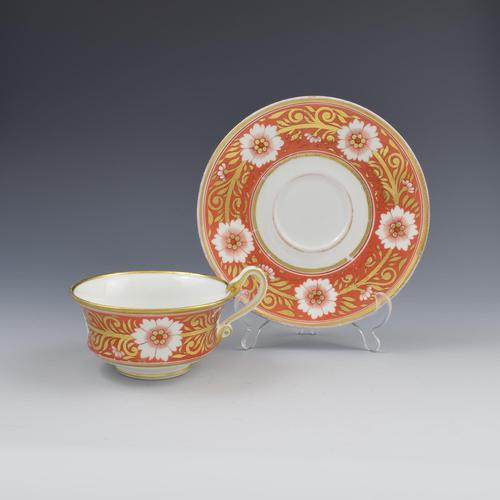 Spode Etruscan Cup & Saucer Serpent Handle Pattern 878 c.1817 (1 of 7)