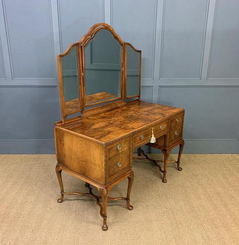Substantial Burr Walnut Dressing Table (1 of 18)