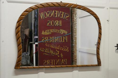 Victorian Rope Carved Pine Overmantle Mirror (1 of 9)