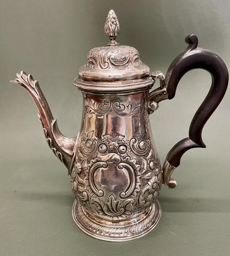 Superb Mid 18th Century Solid Silver Coffee Pot by Robert Arbin Cox (1 of 5)