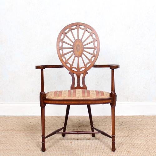 Antique Edwardian Armchair Inlaid Mahogany (1 of 10)