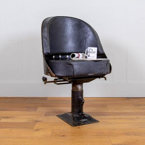 Vintage Industrial 1940s Lorry Bus Seat / Chair by Chapman of London (1 of 13)