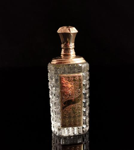 Antique 14ct Rose Gold Scent Bottle, 19th Century, Dutch, Cased (1 of 15)
