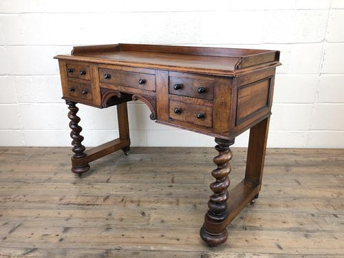 Antique Mahogany Desk with Barley Twist Supports (1 of 13)