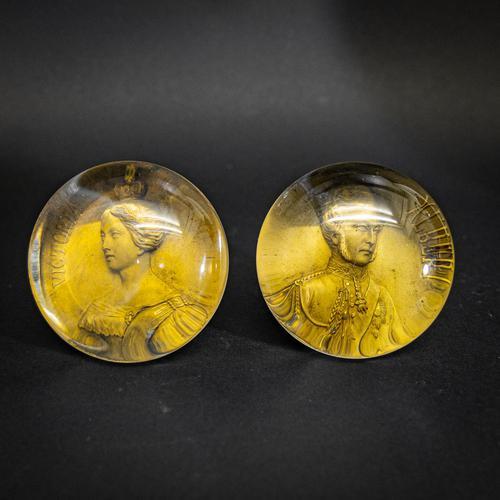 Rare Pair of Victoria & Albert Paperweights (1 of 5)