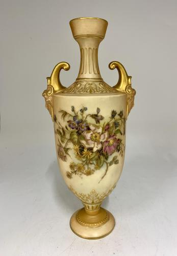 Antique Royal Worcester Pedestal Vase circa 1913 (1 of 5)