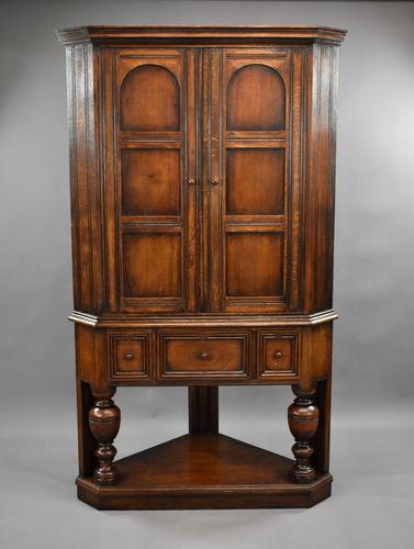 Oak Corner Cupboard by Liberty & Co (1 of 9)