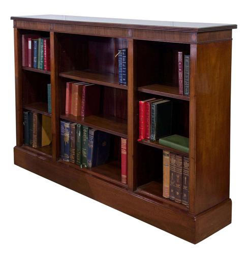 Mahogany Open Bookcase c.1900 (1 of 6)