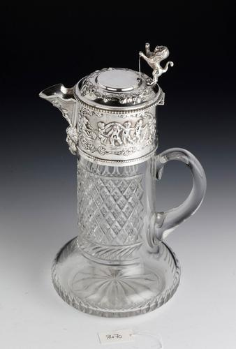 Attractive Early 20th Century Silver Topped Claret Jug (1 of 8)