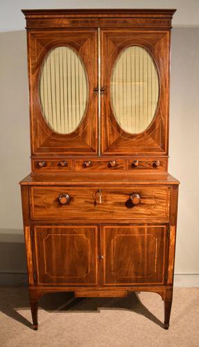 George III Sheraton Period Secretaire Cabinet (1 of 9)