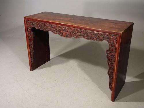 Slender 19th Century Oriental Alter Table (1 of 5)