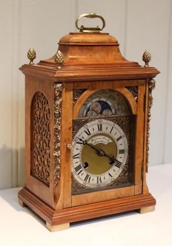 Small Burr Maple Bracket Clock (1 of 9)