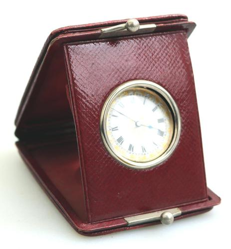 Antique Ladies 9ct Solid Gold Cased Fob Watch & Travelling Watch Holder c.1909 (1 of 7)
