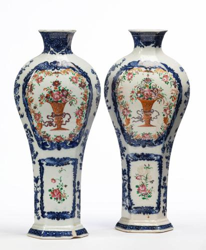 Pair of Mid 18th Century Qianlong Period Vases (1 of 3)