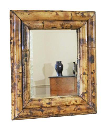 Bamboo Overmantle or Wall Mirror Mid 20th Century (1 of 5)